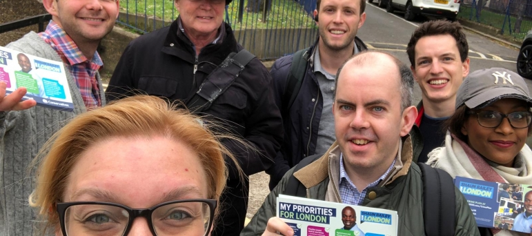 Campaigning in May 2019